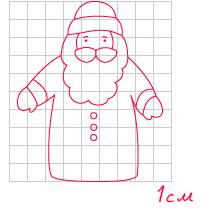 Дед мороз из бумаги своими руками выкройки