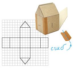 Как сделать дом из картона своими руками схема