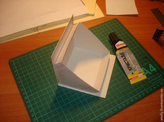 Как сделать крышу из картона