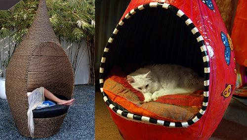 Домики для котят своими руками фото