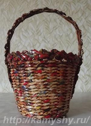 Плетение из виноградной лозы корзин