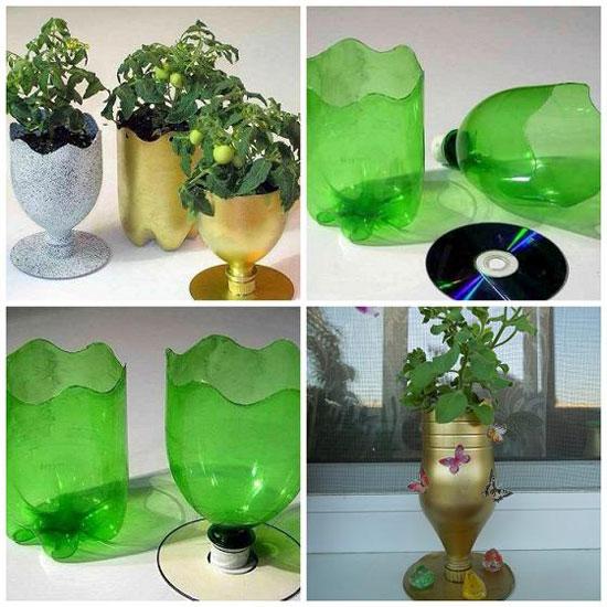 Как сделать горшок из пластиковых бутылок своими руками