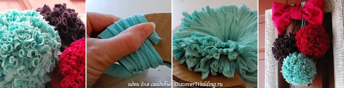 как сделать цветы из ткани своими руками пошагово на свадьбу - Самоделкины
