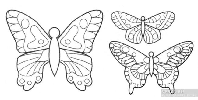 Бабочки для украшения схема