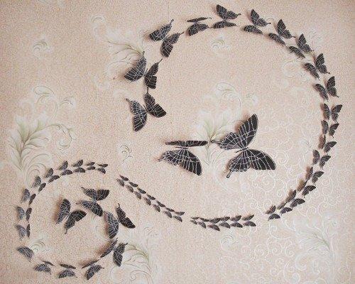 Как сделать бумажную бабочку на стену