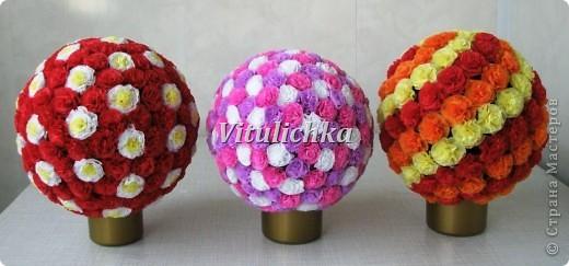 Цветочные шары Бумага,