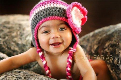 Детские вязаные шапочки: