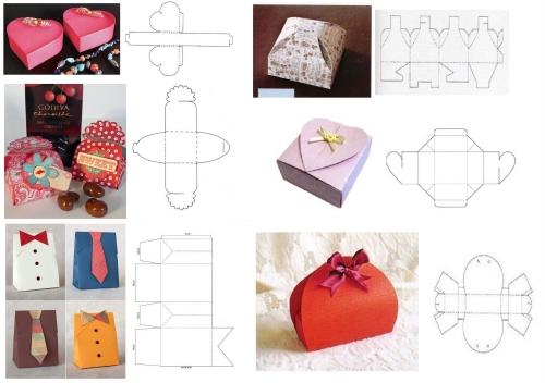 Коробочка из картона для подарка своими руками