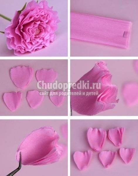 Цветы розы своими руками пошаговое фото