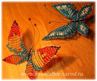 Бабочки из бисера: описание и