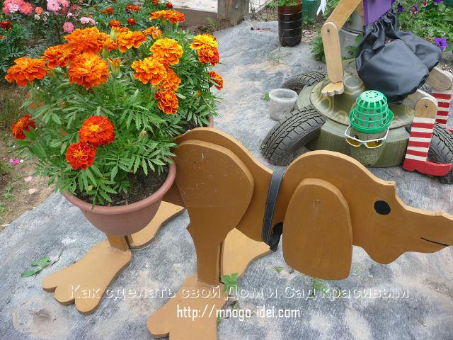 Поделки своими руками для сада и огорода из фанеры