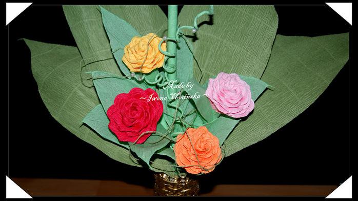 Напыление пПростые цветы из гофрированной бумаги своими