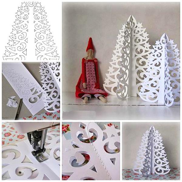 Оригинальные елки из бумаги