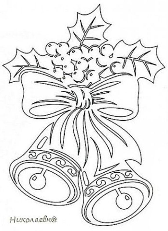 Новогодний колокольчик из бумаги своими руками