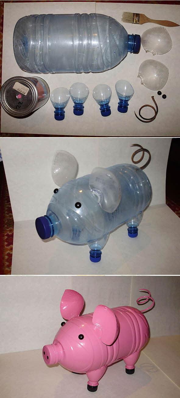 Звери из пластиковых бутылок для сада своими руками