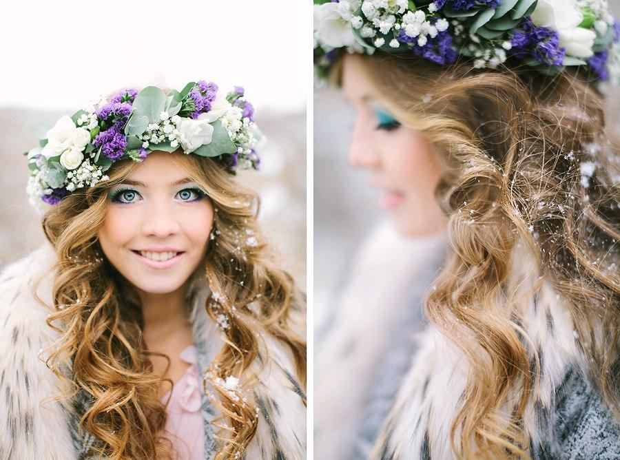 Венки на голову из цветов своими руками из лент