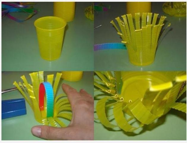 Как сделать из стакана поделку