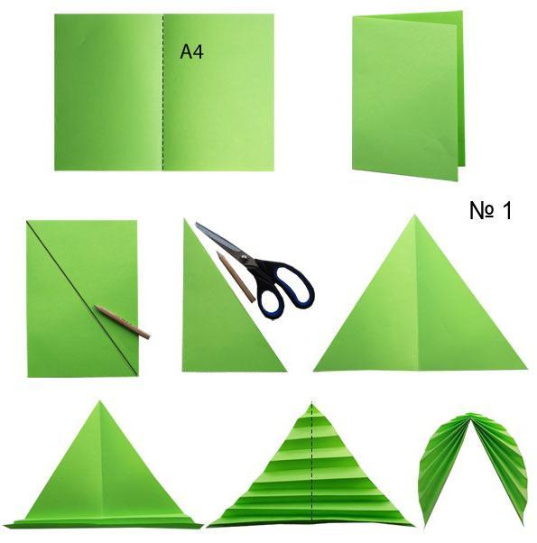 Как сделать листья из бумаги своими руками фото