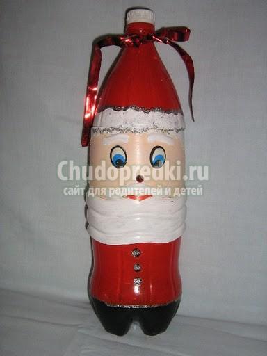 Елочная игрушка из бутылок своими руками