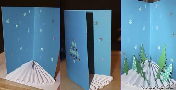 Новогодние 3 д открытки своими руками