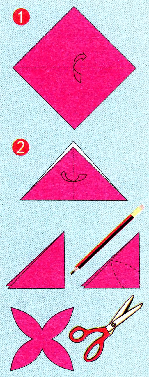 Как сделать снежинку из бумаги подробно