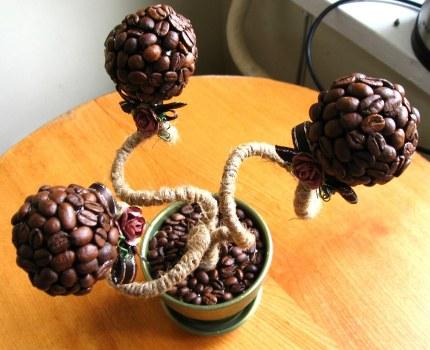 Сделать дерево из кофейных зерен видео