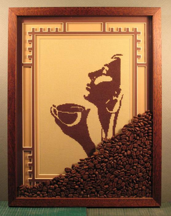 Кофейные картины своими руками фото
