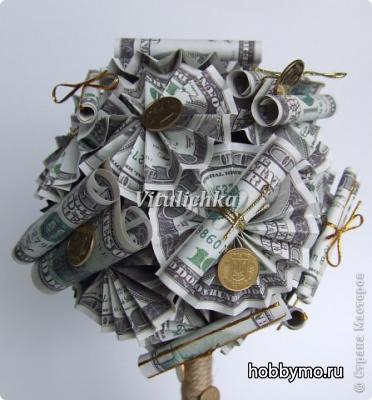 Топиарий денежный своими руками