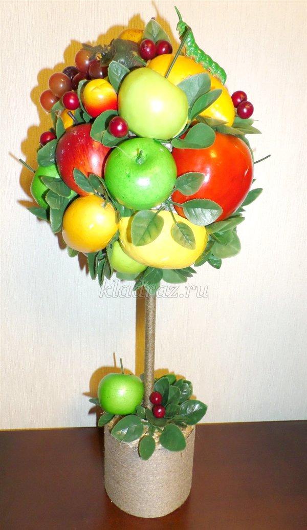 Топиарий с фруктами своими руками мастер класс