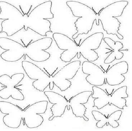 Шаблон бабочки для декора своими руками шаблоны