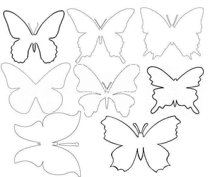 Декор бабочками на стене своими руками трафарет