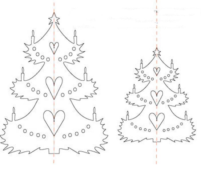 Бумажная елка своими руками схемы