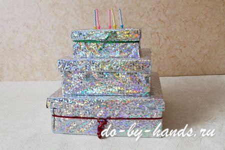 Что можно сделать из коробки от торта своими руками