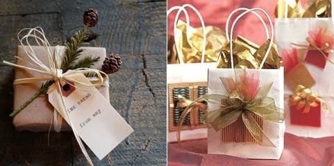 Красиво упаковать новогодний подарок своими руками