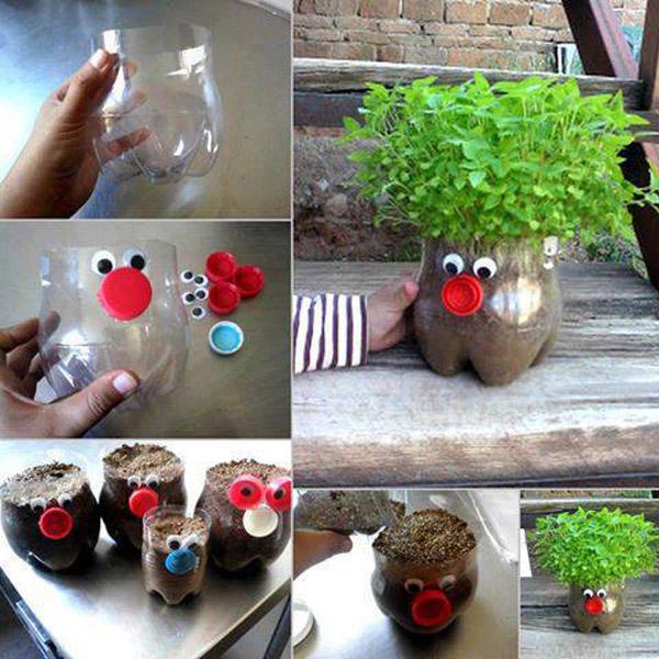 Кашпо для сада своими руками из пластиковых