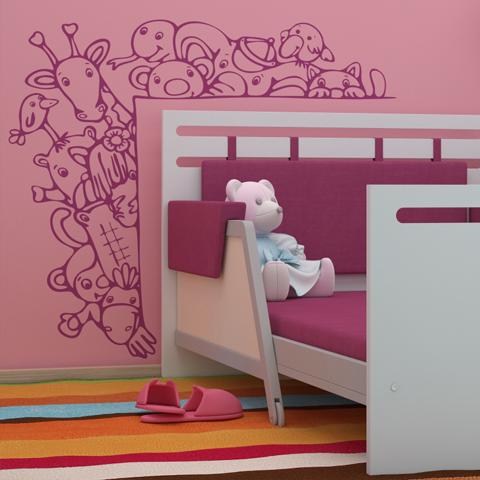 Трафареты для стен в детской комнате своими руками