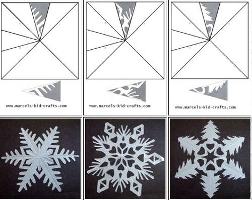 Объёмные снежинки из бумаги своими руками распечатать