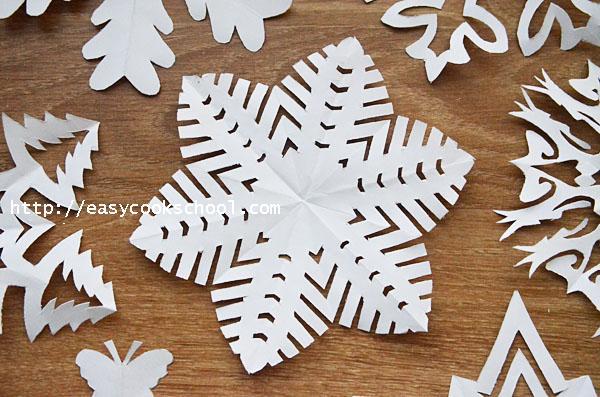 Снежинки из бумаги а4 своими руками