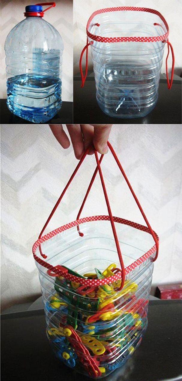 Вещи своими руками из пластиковых бутылок фото