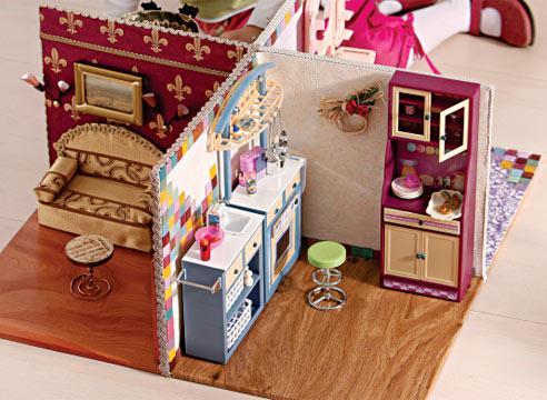 Мебель для кукол из коробок для детей