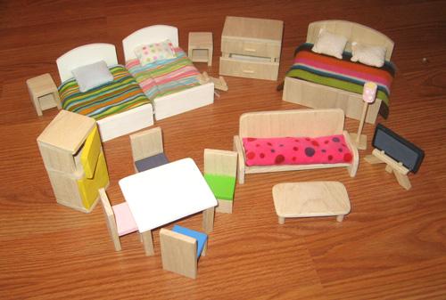 Сделать игрушечную мебель из картона своими руками