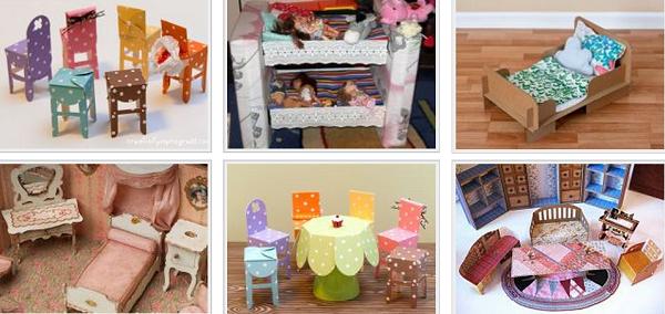Как сделать мебель для кукол своими руками быстро
