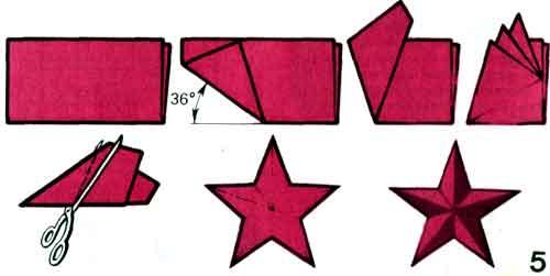 Как сделать объемную звезду из бумаги пятиконечная звезда поэтапно