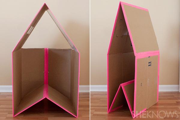 Как делать домик из коробки своими руками для кошки