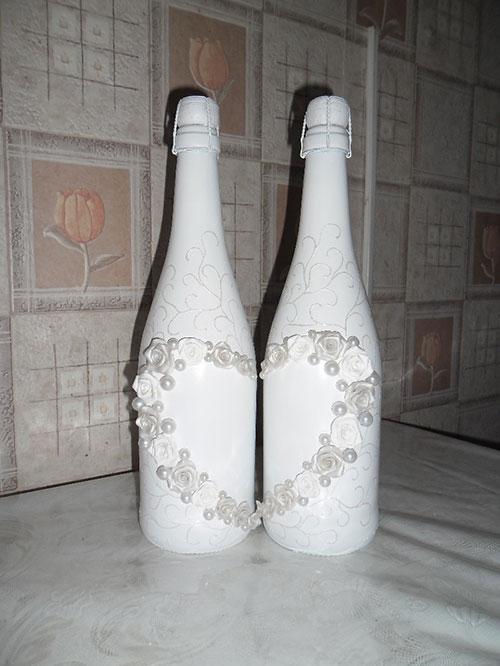 Как украсить шампанское своими руками мастер класс