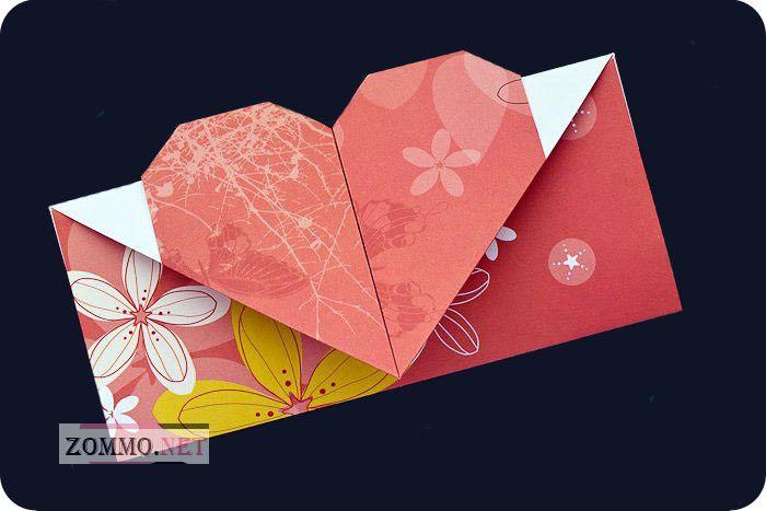 Как из бумаги сделать конверт с сердечком - Status-style.ru