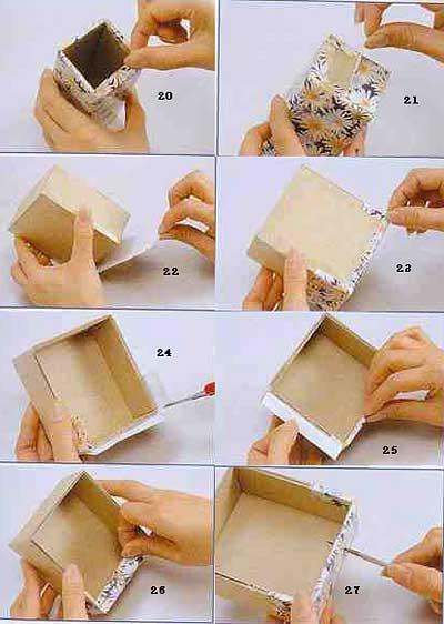Шкатулка своими руками из картона фото