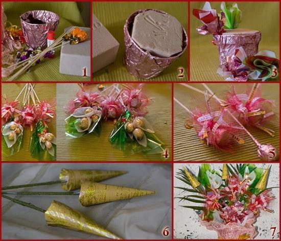 Каркасы для букетов из конфет своими руками