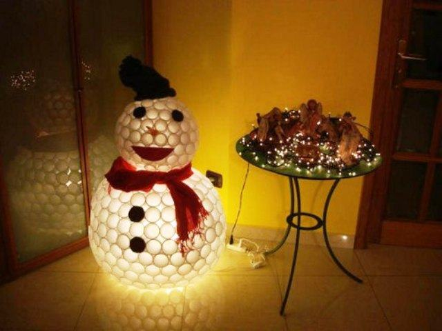 Креативные снеговики своими руками фото