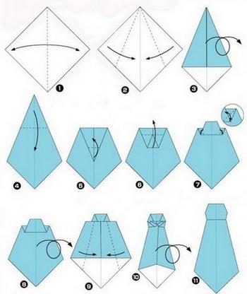 Поделки к 23 февраля галстук